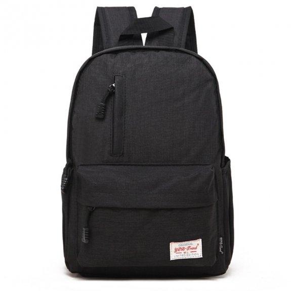 """AppleKing multifunkční studentský batoh vhodný pro iPad / MacBook do 13"""" - černý - možnost vrátit zb"""