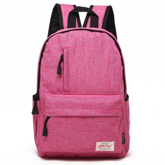 """AppleKing multifunkční studentský batoh vhodný pro iPad / MacBook do 13"""" - růžový - možnost vrátit z"""