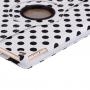 Pouzdro / kryt s otočným stojánkem pro iPad Air 2 - bílé s černými puntíky