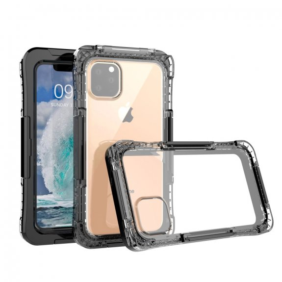 AppleKing super odolné pouzdro proti vodě / sněhu / prachu pro iPhone 11 - černé - možnost vrátit zboží ZDARMA do 30ti dní