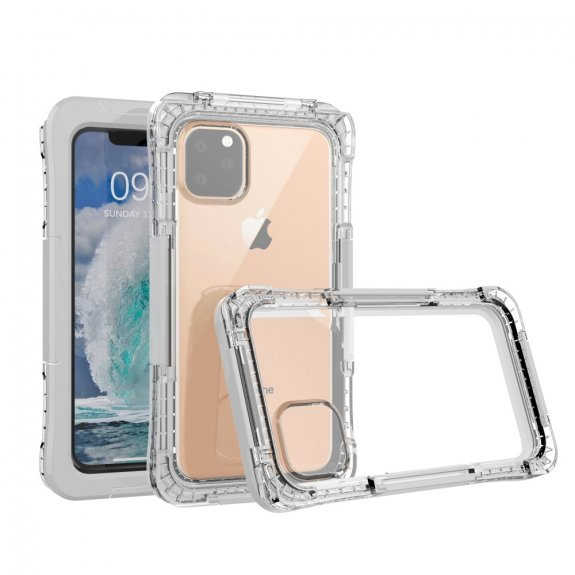 AppleKing super odolné pouzdro proti vodě / sněhu / prachu pro iPhone 11 - bílé - možnost vrátit zboží ZDARMA do 30ti dní