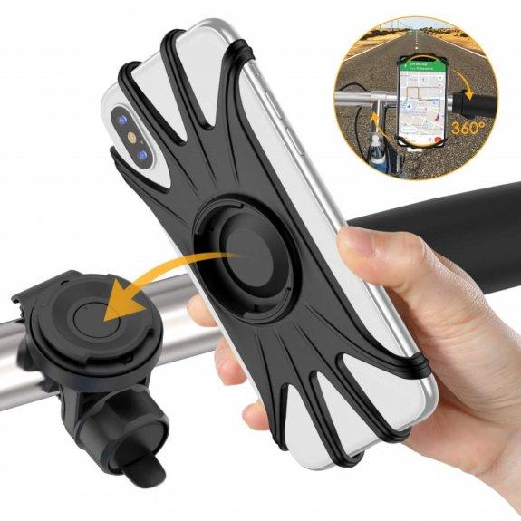 """AppleKing otočný držák na řídítka pro iPhone do 6,5"""" - možnost vrátit zboží ZDARMA do 30ti dní"""
