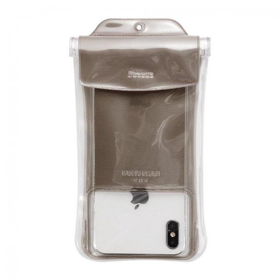 Baseus vodotěsná kapsa na potápění pro iPhone (19 x 10 cm) - šedá - možnost vrátit zboží ZDARMA do 30ti dní
