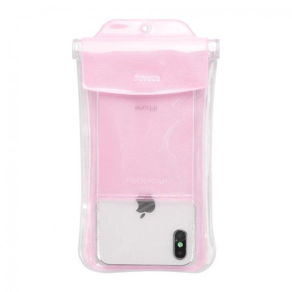 Baseus vodotěsná kapsa na potápění pro iPhone (19 x 10 cm) - růžová - možnost vrátit zboží ZDARMA do