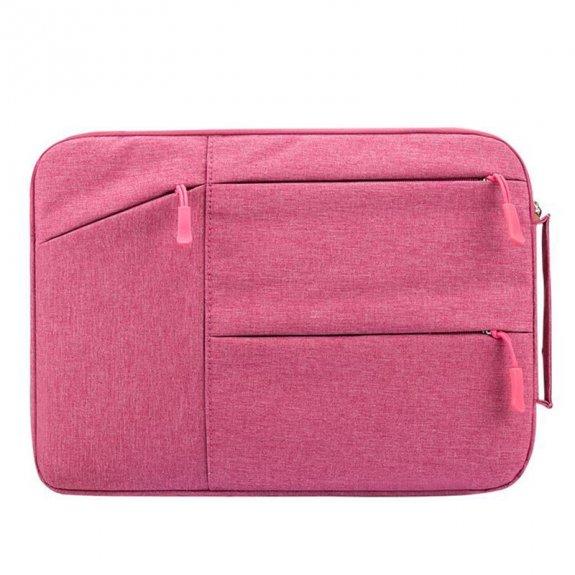 """AppleKing praktická brašna s řadou kapes pro iPad / MacBook do 12"""" - růžová - možnost vrátit zboží ZDARMA do 30ti dní"""