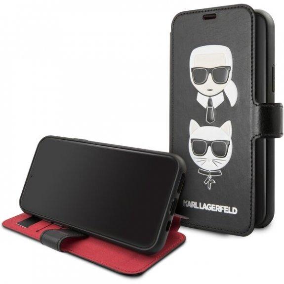 Karl Lagerfeld flipové pouzdro se sloty na karty pro iPhone 11 - černé 3700740463734 - možnost vráti