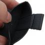 Pouzdro s texturou a vytahovacím poutkem pro iPhone 5 / 5S / SE - černé
