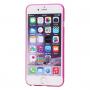 Tenký plastový kryt pro iPhone 6 Plus / 6S Plus s ochranou čočky - růžový