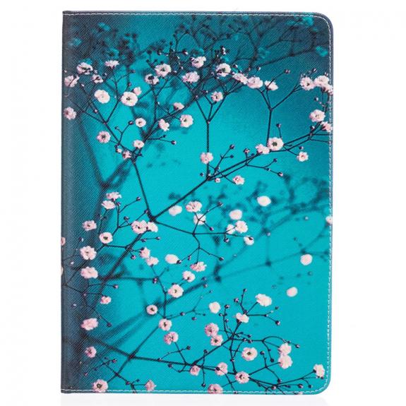 """AppleKing pouzdro / kryt se stojánkem a kapsou pro doklady nebo dokumenty pro Apple iPad Air 3 (2019) / iPad Pro 10,5"""" - stromy a květy - možnost vrátit zboží ZDARMA do 30ti dní"""