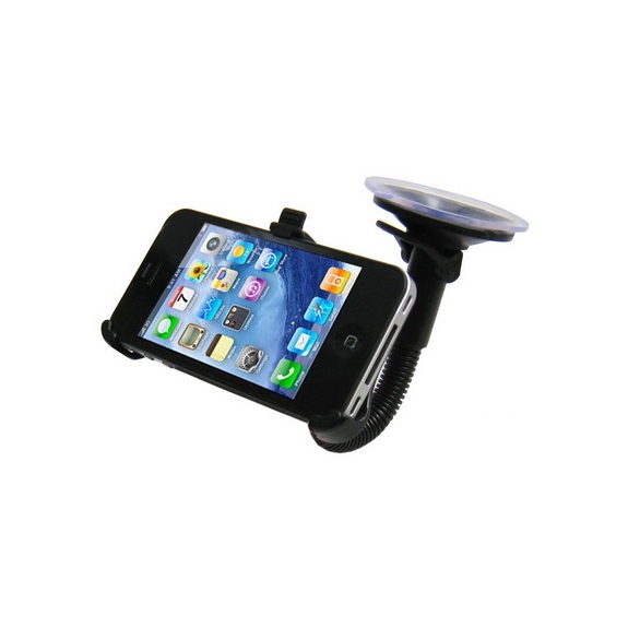 AppleKing polohovatelný držák na čelní sklo nebo palubní desku automobilu s přísavkou pro iPhone 4 / 4S - černý - možnost vrátit zboží ZDARMA do 30ti dní