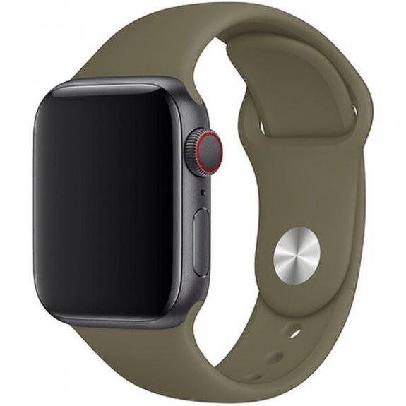 Originální sportovní řemínek pro Apple Watch 44mm - khaki MWUP2ZM/A - možnost vrátit zboží ZDARMA do 30ti dní