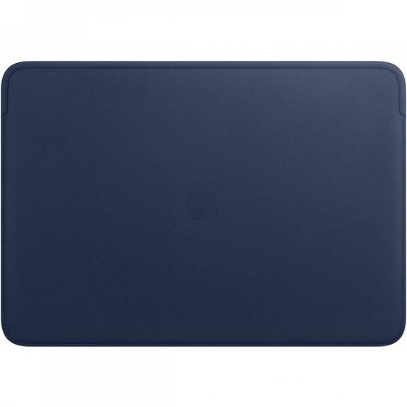 """Originální Apple kožené pouzdro pro MacBook Pro 16"""" - půlnočně modré MWVA2ZM/A - možnost vrátit zboží ZDARMA do 30ti dní"""
