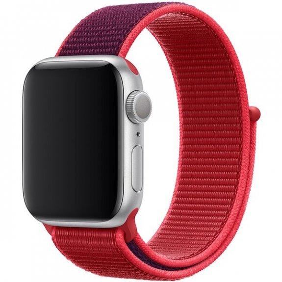 Originální provlékací sportovní řemínek pro Apple Watch 40mm - červený MXHV2ZM/A - možnost vrátit zboží ZDARMA do 30ti dní