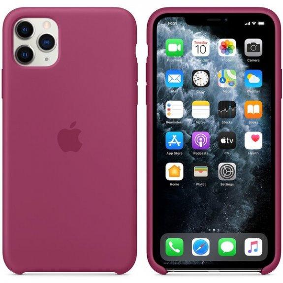 Apple silikonový kryt pro iPhone 11 Pro Max - tmavě fuchsiový MXM82ZM/A - možnost vrátit zboží ZDARMA do 30ti dní