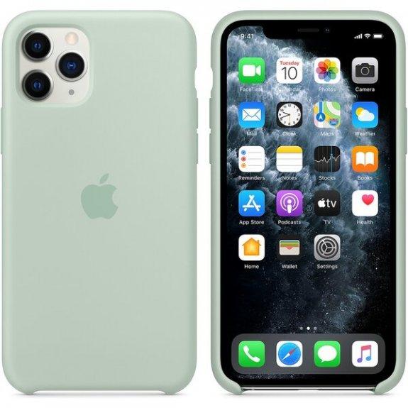 Originální Apple silikonový kryt pro iPhone 11 Pro - berylově zelený MXM72ZM/A - možnost vrátit zboží ZDARMA do 30ti dní