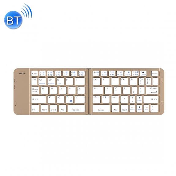 AppleKing skládací bluetooth hliníková klávesnice pro iPad - zlatá - možnost vrátit zboží ZDARMA do 30ti dní