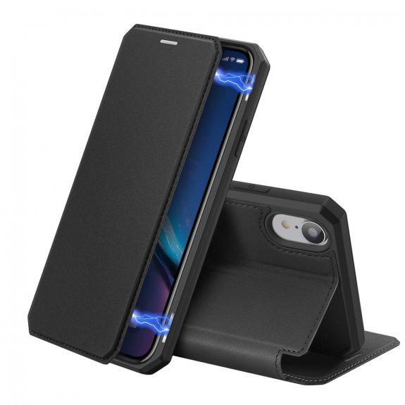 Dux Ducis flipové pouzdro se slotem na karty pro iPhone XR - černé - možnost vrátit zboží ZDARMA do