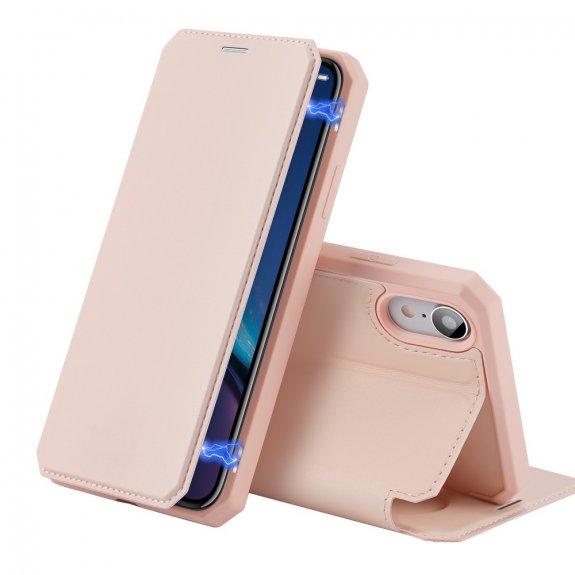 Dux Ducis flipové pouzdro se slotem na karty pro iPhone XR - růžové - možnost vrátit zboží ZDARMA do