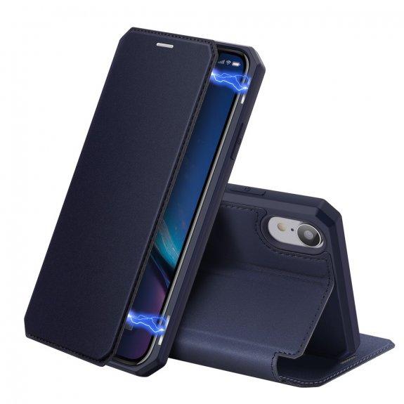 Dux Ducis flipové pouzdro se slotem na karty pro iPhone XR - modré - možnost vrátit zboží ZDARMA do