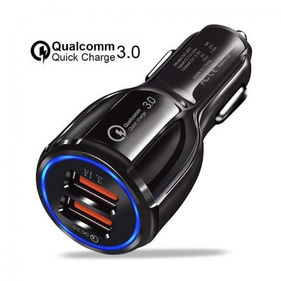 AppleKing duální USB rychlá nabíječka do auta - černá - možnost vrátit zboží ZDARMA do 30ti dní