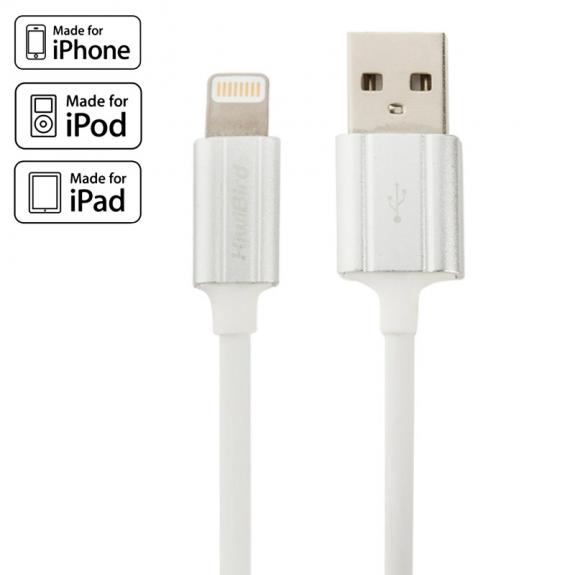KiwiBird certifikovaný MFi lightning kabel pro Apple iPhone / iPad / iPod - 1m - bílý - možnost vrátit zboží ZDARMA do 30ti dní