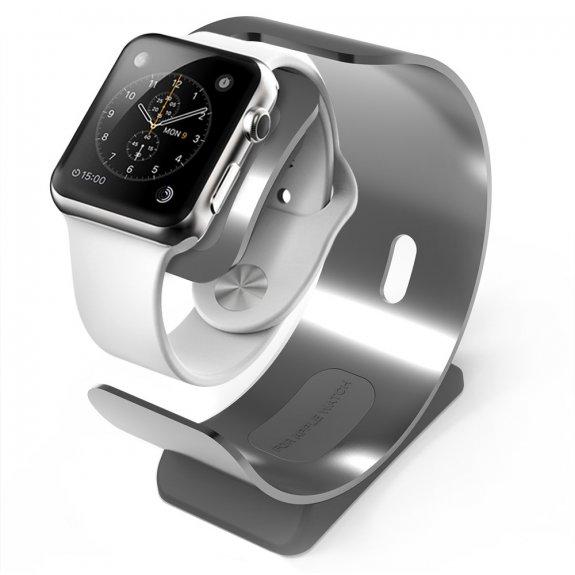 Sincetop hliníkový stojánek / nabíječka pro Apple Watch - šedý - možnost vrátit zboží ZDARMA do 30ti dní