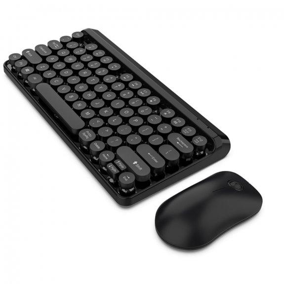 AppleKing sada multimediální bezdrátové klávesnice s myší - černá - možnost vrátit zboží ZDARMA do 30ti dní