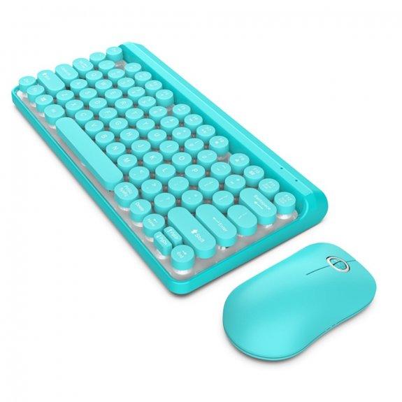 AppleKing sada multimediální bezdrátové klávesnice s myší - modrá - možnost vrátit zboží ZDARMA do 30ti dní
