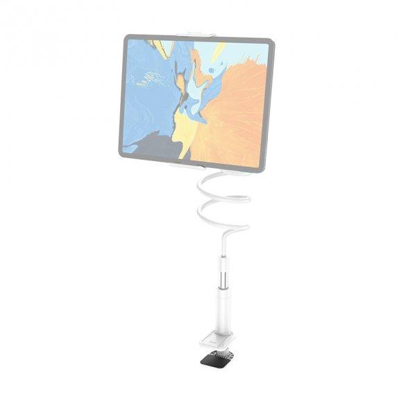 """Hoco stolní držák na iPhone / iPad (4"""" - 10,5"""") s flexibilním ramenem - bílý - možnost vrátit zboží ZDARMA do 30ti dní"""