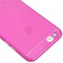 Ultra tenký plastový kryt pro iPhone 6 / 6S - s ochranou zadní kamery - růžový
