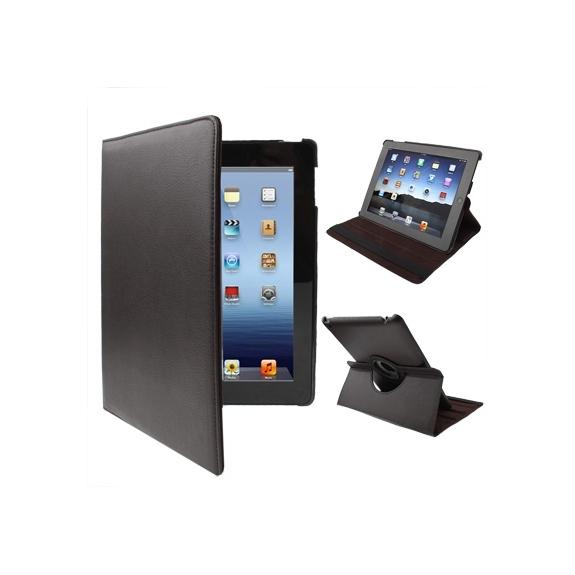 AppleKing pouzdro / kryt s otočným držákem pro iPad 2. / 3. / 4.gen - hnědé - možnost vrátit zboží ZDARMA do 30ti dní