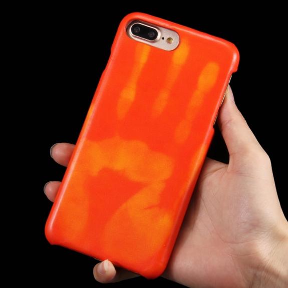 AppleKing tepelně citlivý termo kryt se zachováním otisku vaší ruky na iPhone 8 Plus / 7 Plus - červený - možnost vrátit zboží ZDARMA do 30ti dní