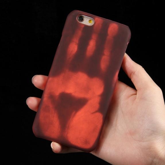 AppleKing tepelně citlivý termo kryt se zachováním otisku vaší ruky na iPhone 6S / 6 - hnědý - možnost vrátit zboží ZDARMA do 30ti dní