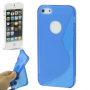 """Ochranný plastový kryt """"S line"""" pro iPhone 5 / 5S / SE - modrý"""