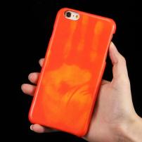 Tepelně citlivý termo kryt se zachováním otisku vaší ruky na iPhone 6S Plus / 6 Plus - červený