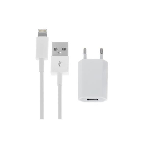 AppleKing 2v1 nabíjecí sada pro Apple zařízení - EU adaptér a Lightning kabel - možnost vrátit zboží ZDARMA do 30ti dní