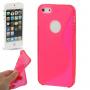 """Ochranný plastový kryt """"S line"""" pro iPhone 5 / 5S / SE - růžový"""