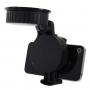Univerzální otočný držák na čelní sklo nebo palubní desku automobilu s přísavkou pro iPhone 4 / 4S / 3GS / 3G - šířka 42mm až 62mm - černý