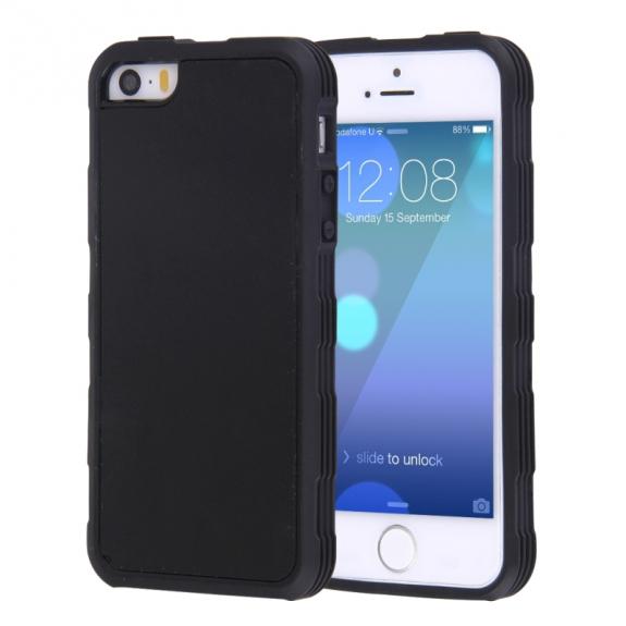 AppleKing magický antigravitační samolepící kryt na Apple iPhone 5 / 5S / SE - vhodný pro selfie - černý - možnost vrátit zboží ZDARMA do 30ti dní