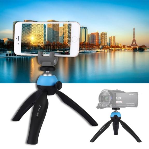 AppleKing stativ / tripod s 360° otočnou hlavou pro iPhone - modrý - možnost vrátit zboží ZDARMA do 30ti dní