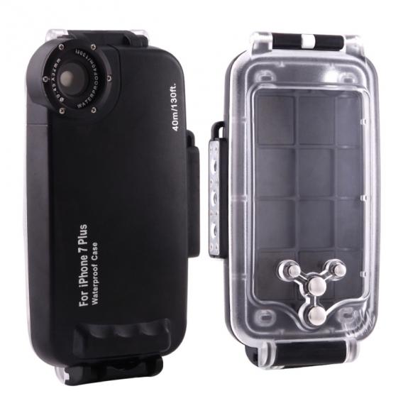 HAWEEL vodotěsné pouzdro do hloubky 40m pro iPhone 8 Plus / 7 Plus - černé - možnost vrátit zboží ZDARMA do 30ti dní