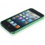 Ultra tenký (0.3mm) poloprůhledný matný kryt pro iPhone 5 / 5S / SE - zelený