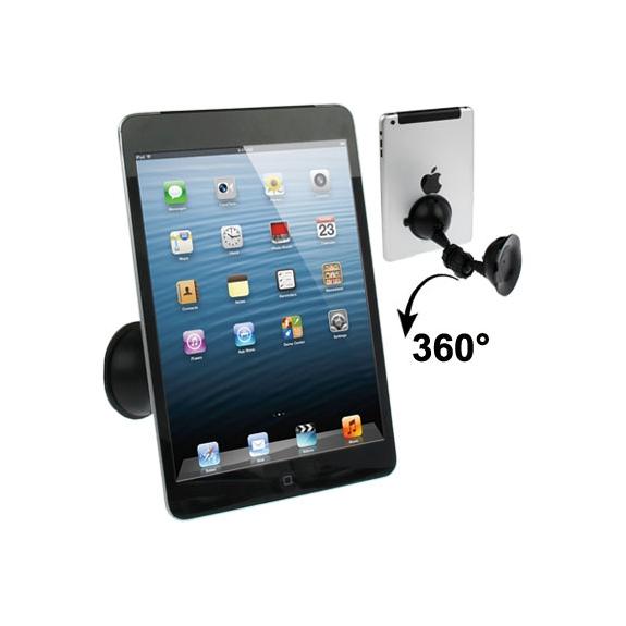 AppleKing univerzální držák na iPhone a iPad s přísavkou na každá straně - otočný 360° - černý - možnost vrátit zboží ZDARMA do 30ti dní
