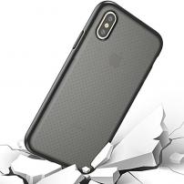Kryt na iPhone XS / iPhone X se zesíleným rámečkem a ochranou proti pádu - černý