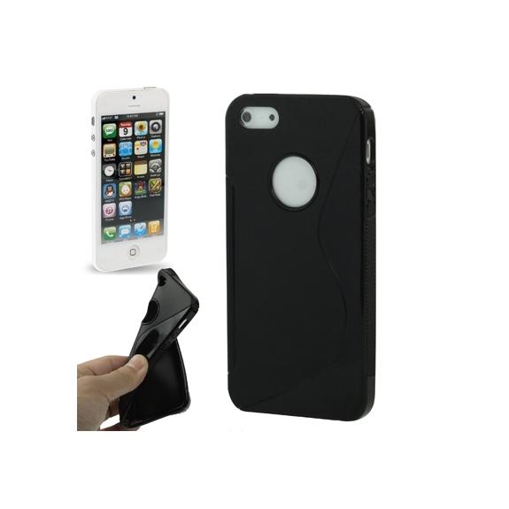 """AppleKing ochranný gumový kryt """"S line"""" pro iPhone 5 / 5S / SE - černý - možnost vrátit zboží ZDARMA do 30ti dní"""