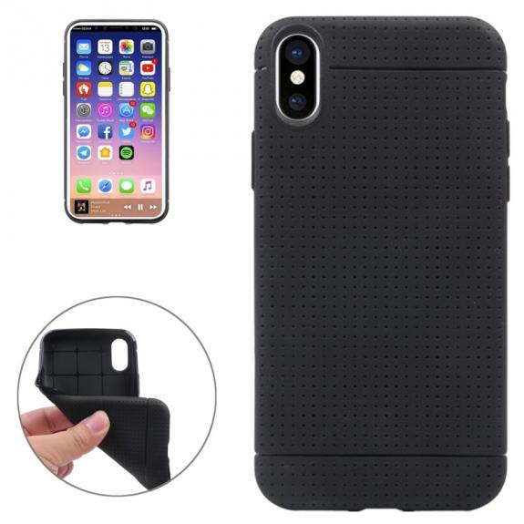 AppleKing kryt na iPhone XS / iPhone X - textura plástve - černý - možnost vrátit zboží ZDARMA do 30ti dní