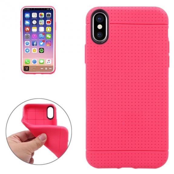 AppleKing kryt na iPhone XS / iPhone X - textura plástve - růžový - možnost vrátit zboží ZDARMA do 30ti dní