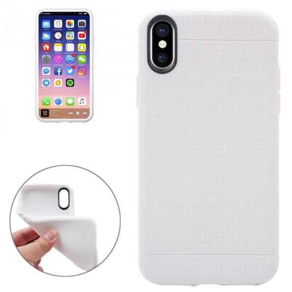 AppleKing kryt na iPhone XS / iPhone X - textura plástve - bílý - možnost vrátit zboží ZDARMA do 30ti dní