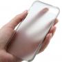 Ultra tenký (0.3mm) poloprůhledný matný kryt pro iPhone 5 / 5S / SE - šedý