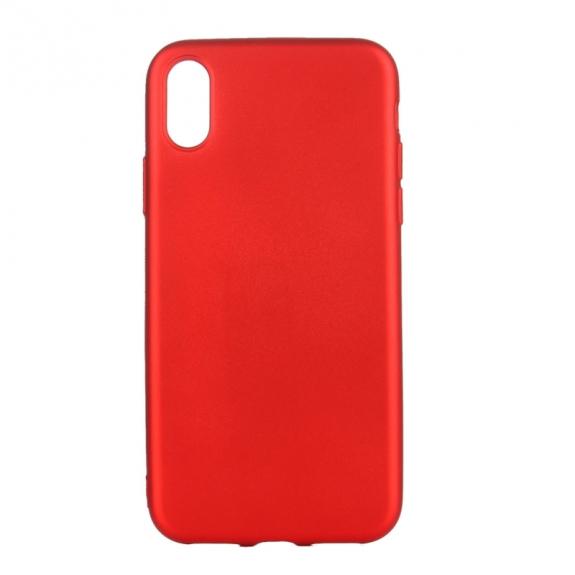 AppleKing kryt na iPhone XS / iPhone X s kovovým vnitřním nástřikem - červený - možnost vrátit zboží ZDARMA do 30ti dní